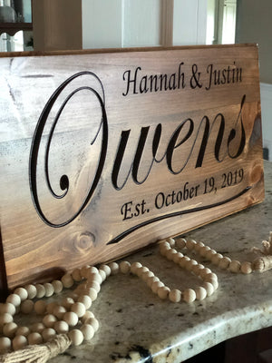 Custom wedding date sign