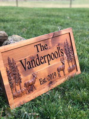 Custom indoor/outdoor 3D sign with deer