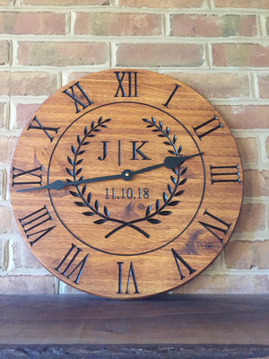 Wall clock with decorative design