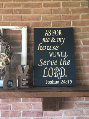 Large Bible verse wall art Joshua 24:15