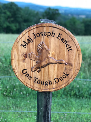 Custom 3D Duck sign