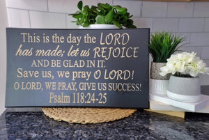 Bible verse wall art Psalm 118:24