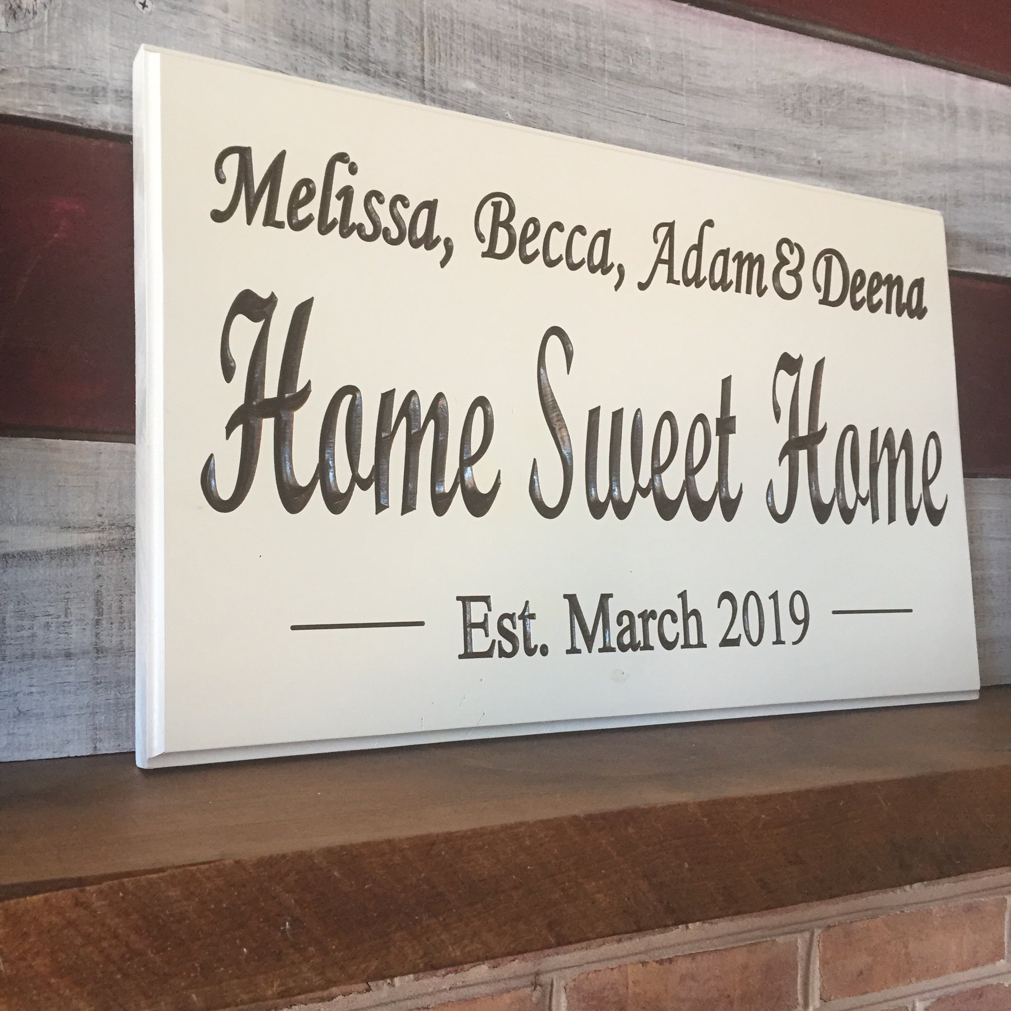 Custom Home Sweet Home Sign Smith Crafted Woodworks