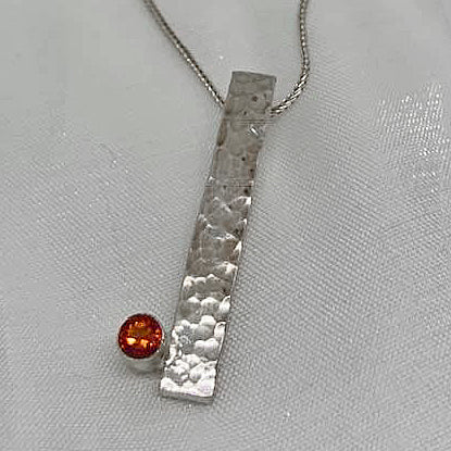 Hand Crafted Sterling Silver Citrine Necklace