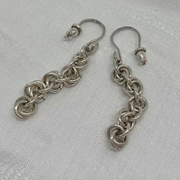 Sterling Silver Handcrafted chain-mail Earrings