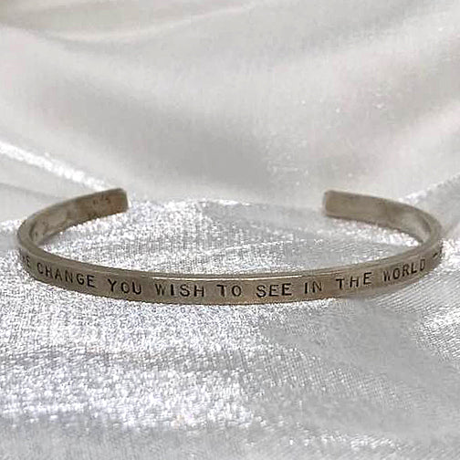 Quote Bracelet Sterling silver