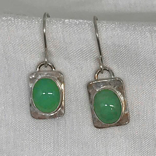 Jade stone set in Sterling Silver
