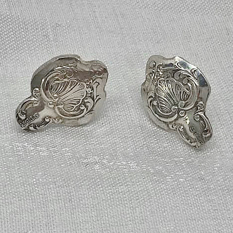 Altered Silver Spoon Earring studs