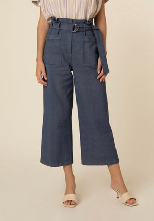 Polka dot frill sleeve Midi Dress