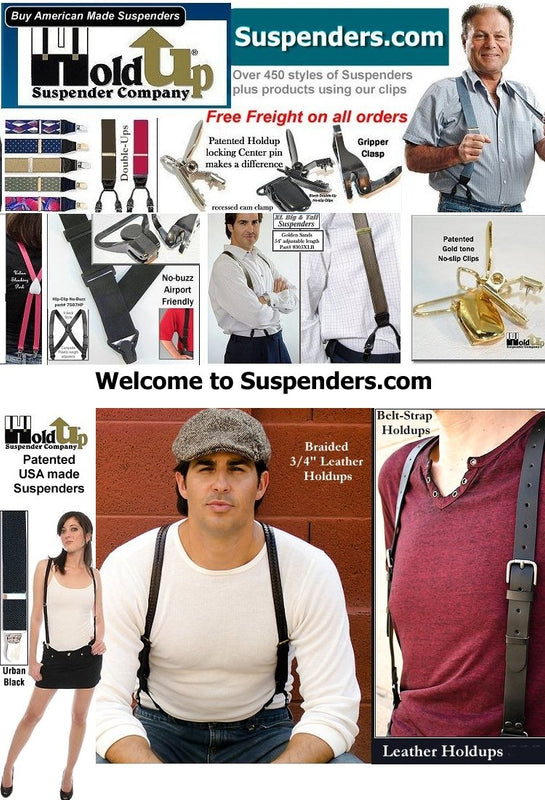 ed0a7227ec8 Suspenders.com website showcases the 490 styles of Holdup Suspenders –  HoldupSuspenders
