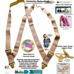 Maternity Plus Sized Hip clip Undergarment hidden Suspenders with Patented Gripper Clasps