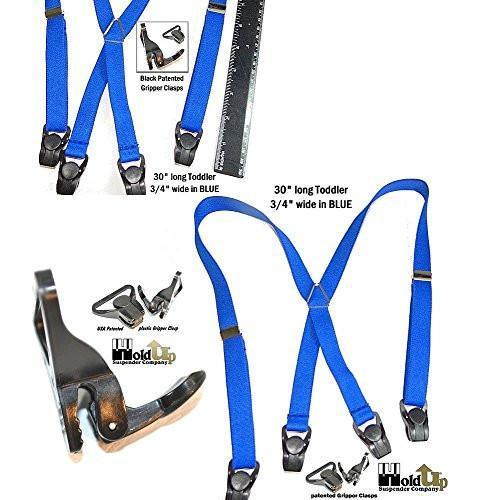 "Hold-Ups 30"" Toddler Blue Suspenders with Patented Gripper Clasps"