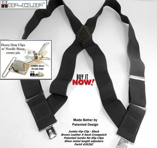 """USA MADE X  Style 2/"""" INDUSTRIAL MATERIAL LEATHER BUTTON ON MEN/'S SUSPENDERS"""