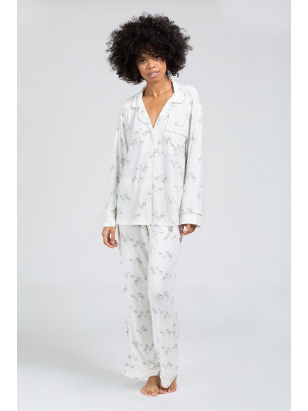 Gisele Printed Long PJ Set - Salvador Palm