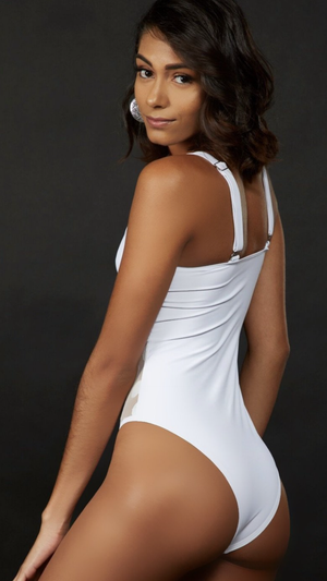 Lady white one piece