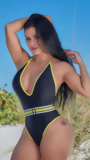 One piece black/yellow
