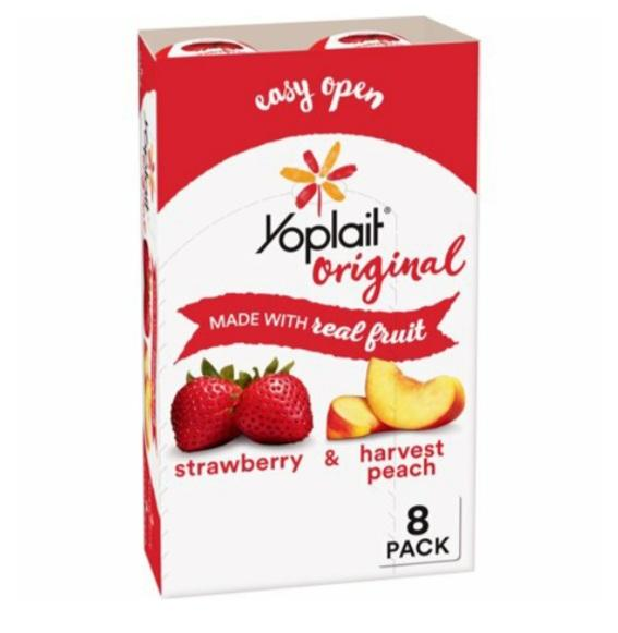 Yoplait Strawberry & Peach Yogurt