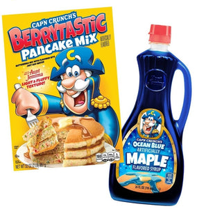 Cap'n Crunch Berrytastic Pancake Mix & Ocean Blue Maple Syrup