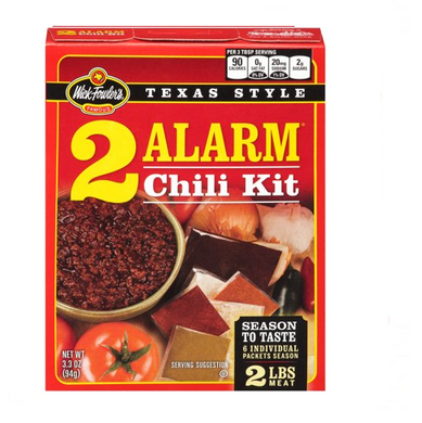 Fowler's Texas Style 2 Alarm Chili Kit, 3.3 oz