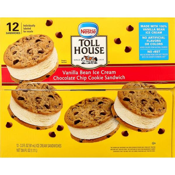 Nestle Toll House Chocolate Chip Cookie Ice Cream Sandwiches