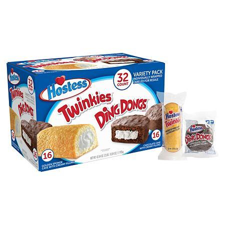Hostess Twinkies/Ding Dongs