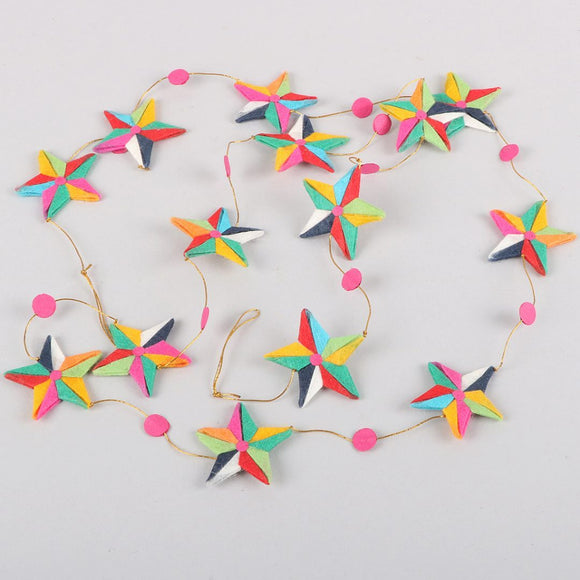 Silk Star Garland