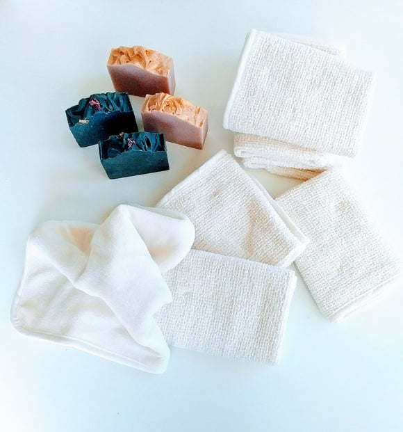 Bamboo Duo Washcloth for face or Body