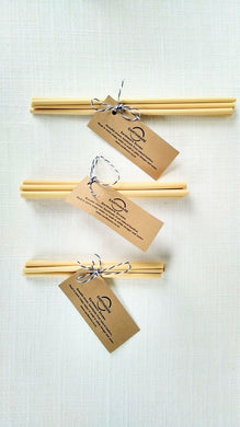 Bamboo Drinking Straws - set of 6