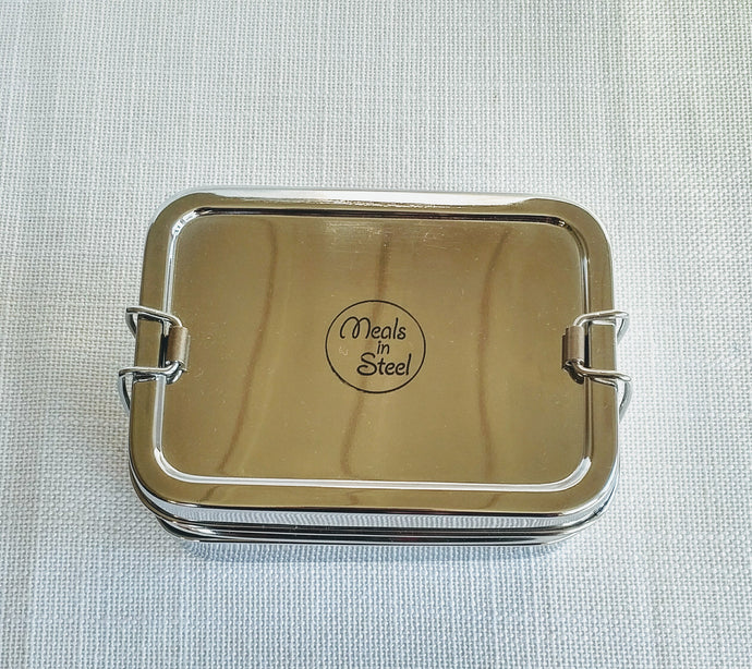 Stainless Steel Twin Layer Rectangular Lunch Box