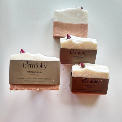 Vintage Rose soap by Farm Folly
