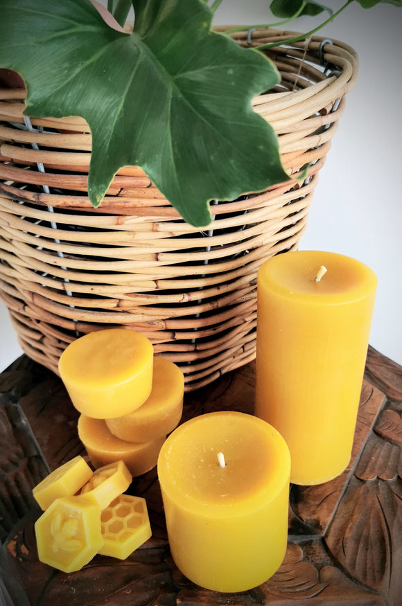 Solid Pillar Beeswax Candles -  Hexton Bee Company