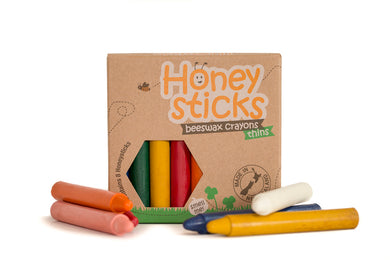 Honeysticks beeswax crayons thins - 8 pack