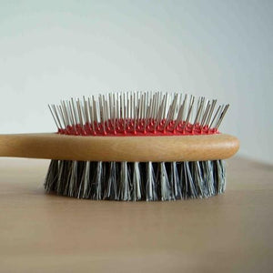 Pet Brush - double sided metal pins
