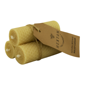 Beeswax Rolled Pillar Candles - Hexton Bee Company