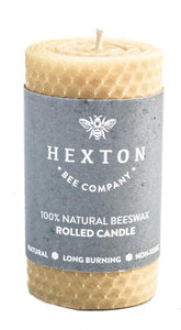 Beeswax Rolled Pillar Candle - Hexton Bee Company