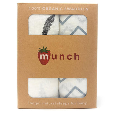 Munch Organic cotton baby swaddle