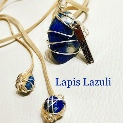 (B) FEATURED & READY TO SHIP  Lapis Lazuli Necklace with Charm