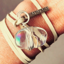 Load image into Gallery viewer, Angel Aura Necklace/Bracelet with Charm