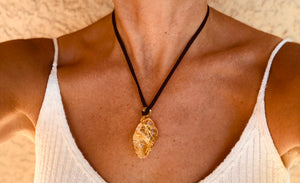 (A) FEATURED & READY TO SHIP  Citrine Necklace