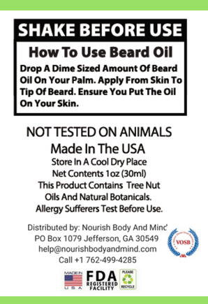 Beard Oil Pearwood