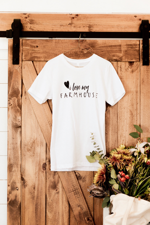 I Love My Farmhouse Tee - White