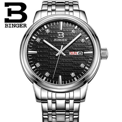 BINGER Lovers Watch Men And Women Thin Waterproof  Watch Stainless Steel /Leather Watch  Quartz Watch Business Style