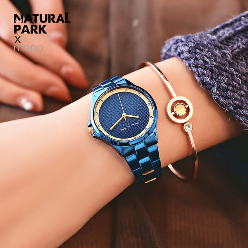NATURAL PARK Women Watches Fashion Quartz waterproof Ladies Stainless steel Watch Women Rhinestone Watches relogio feminino New