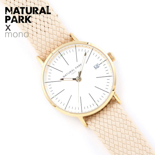 NATURAL PARK Beige Nylon Women Watches Luxury Brand Quartz Watch Casual Ladies Watches Women Clock Montre Femme Relogio feminino