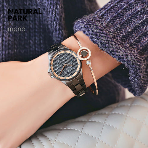 NATURAL PARK Watch Women Elegant Brand Famous Luxury Quartz Watches Ladies Steel Antique Japen Wristwatches Relogio 2018 Gift