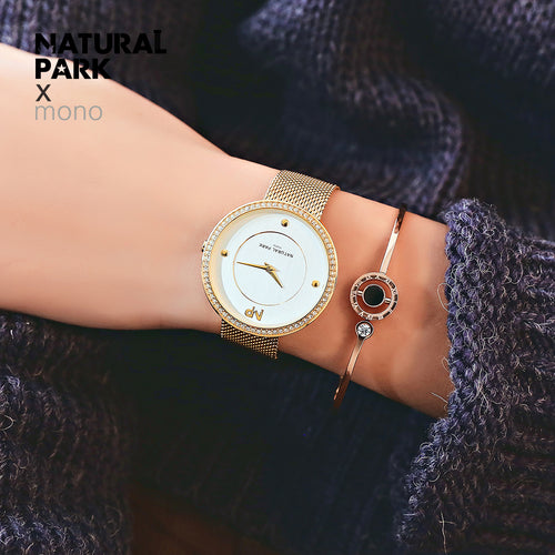 Women Watches NATURAL PARK Quartz Ladies Wrist Watch Clock relogio feminino montre femme Women's Gold Silver Wristwatch 2018 New