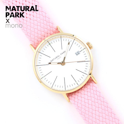 NATURAL PARK Pink Nylon Women Watches Luxury Brand Quartz Watch Fashion Ladies Watches Women Clock Montre Femme Relogio feminino
