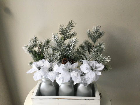 Silver Frost  Christmas Centrepiece