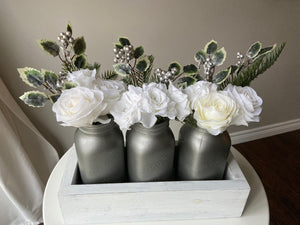 Antique Nickel  Christmas Centrepiece