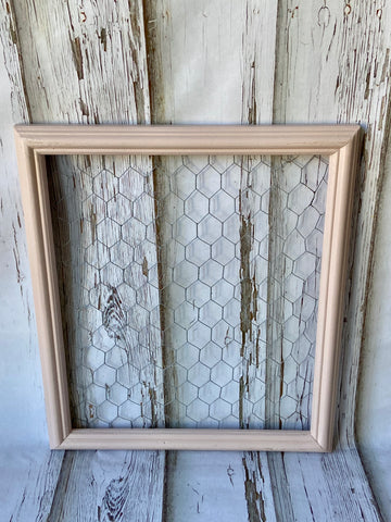 Blush Pink Chicken Wire Frame